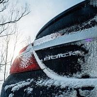 Black 2014 Buick Regal GS Rear Snow