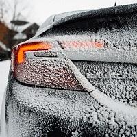 Black 2014 Buick Regal GS AWD Rear Snow