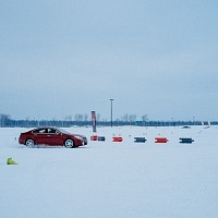 Red 2014 Buick Regal GS AWD Snow Course