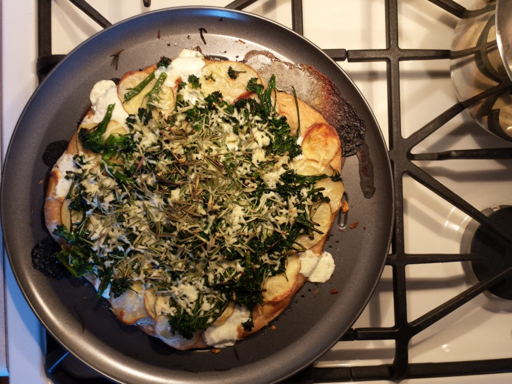 Recipe: White Pizza with Rosemary and Broccoli Rabe