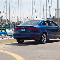 Blue 2015 Audi A3 2.0T Rear