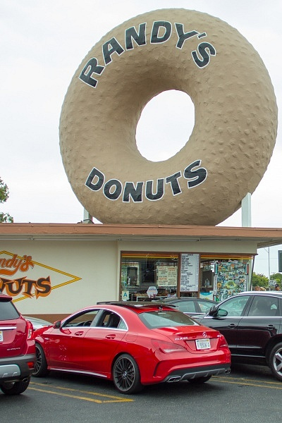 Randys Donuts Los Angeles Mercedes CLA AMG
