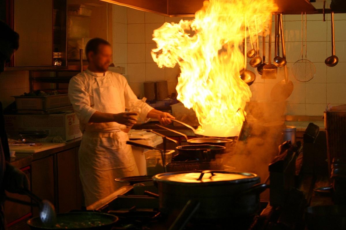 Omelet Flambe