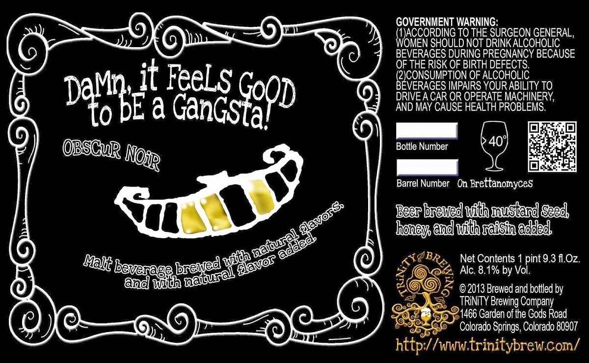 Beer Snobs United - DamnItFeelsGoodToBeAGangsta