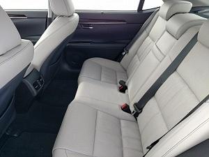 Blue 2016 Lexus ES back seat