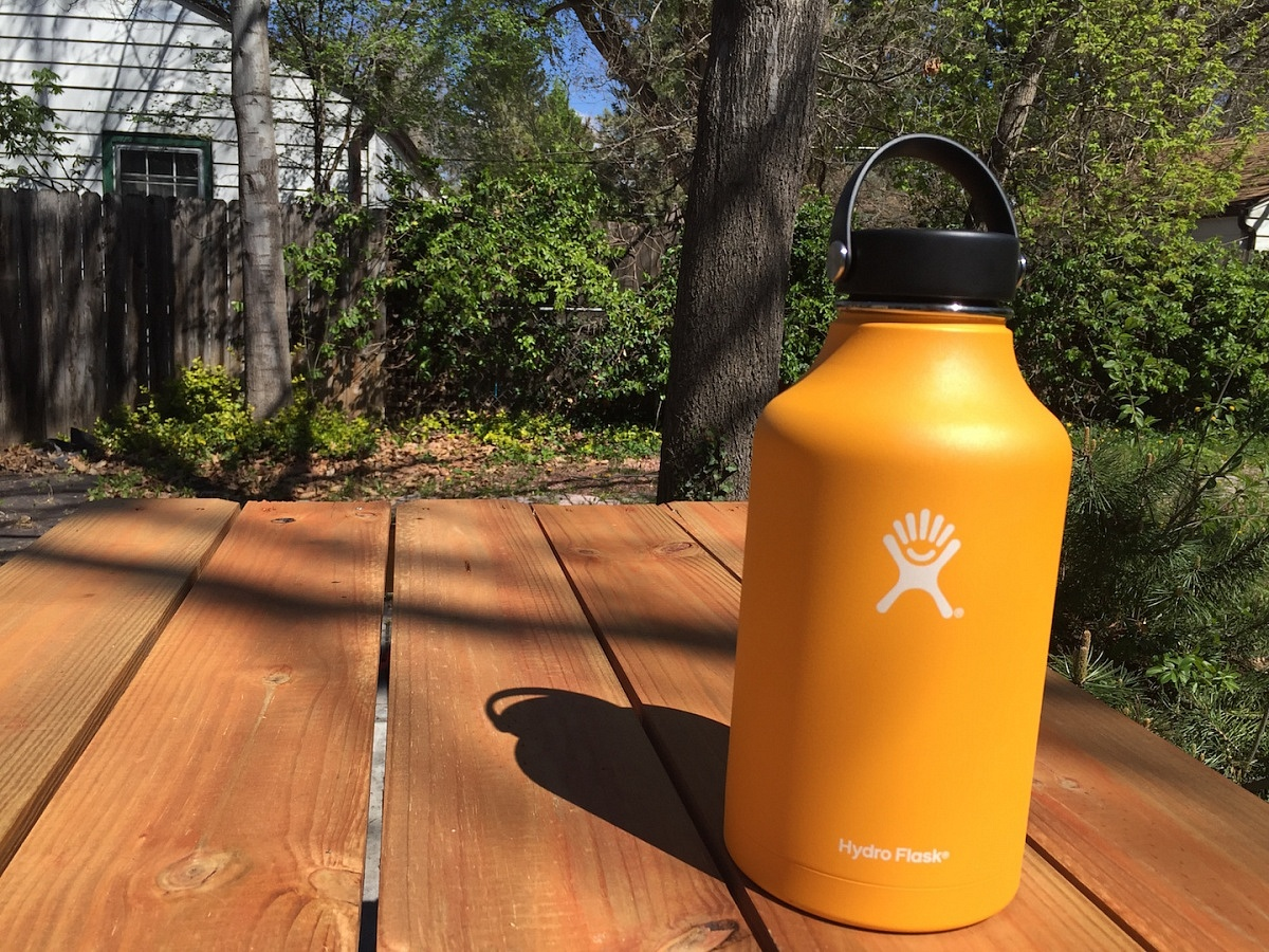 Hydro Flask Growler beer mug chill orange portable