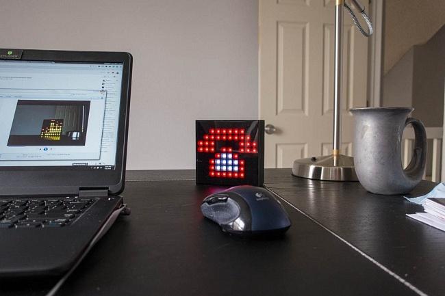 Aura Box Fun Tech home office desk end call