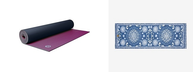 Manduka's Prolite Mat Limited Edition Yogitoes Denim Collection Towel in Gejia Blue