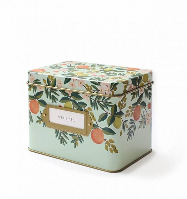Rifle Paper Co.'s Citrus Floral Kitchen Recipe Box