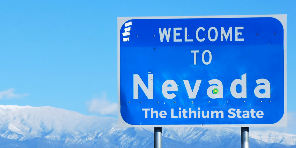 Nevada sign lithium state highway energy tesla gigafactory