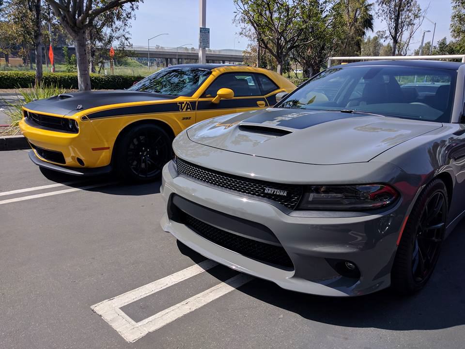 At The Moment My Favorite Heritage Inspired Muscle Cars Are Dodge S 2017 Charger Daytona 392 And Challenger T A I Was Recently Able To Experience