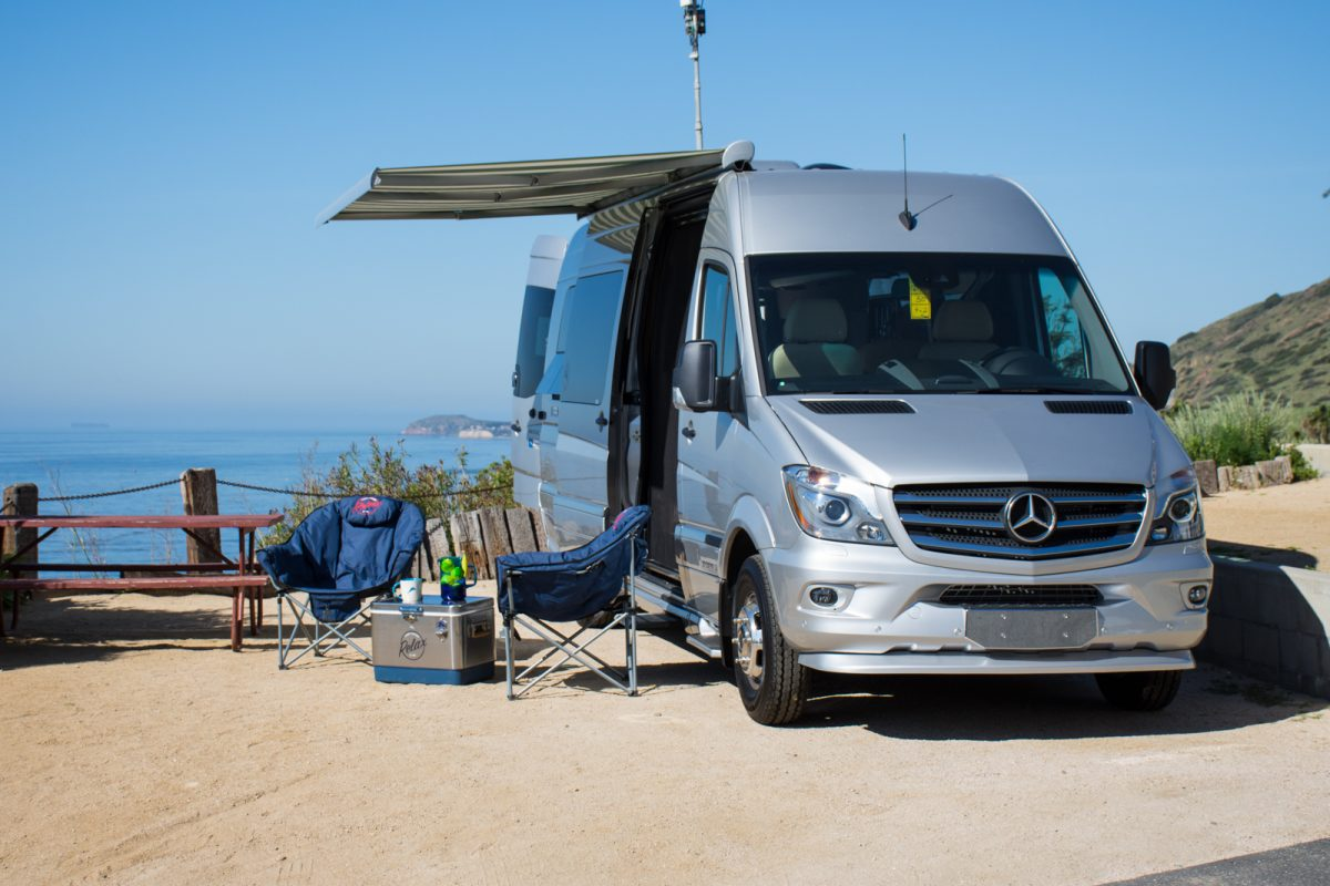 Drivin 39 l a with andrew chen glamping tommy bahama and for Mercedes benz touring coach