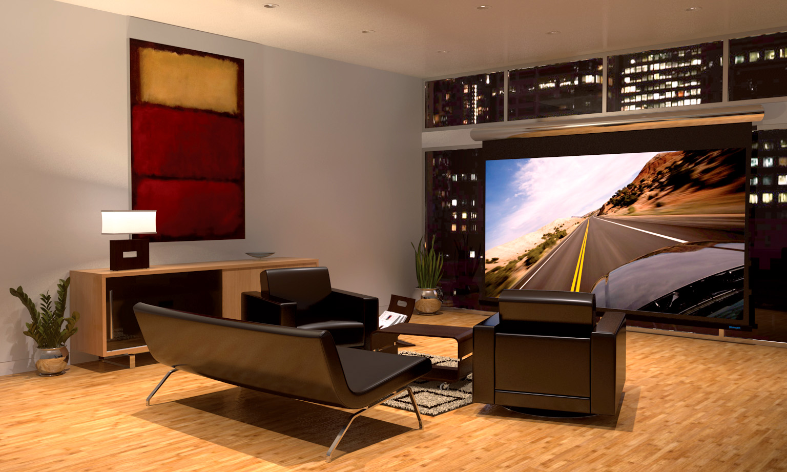 Projectors vs televisions the future of the modern home for Hiding a projector in living room
