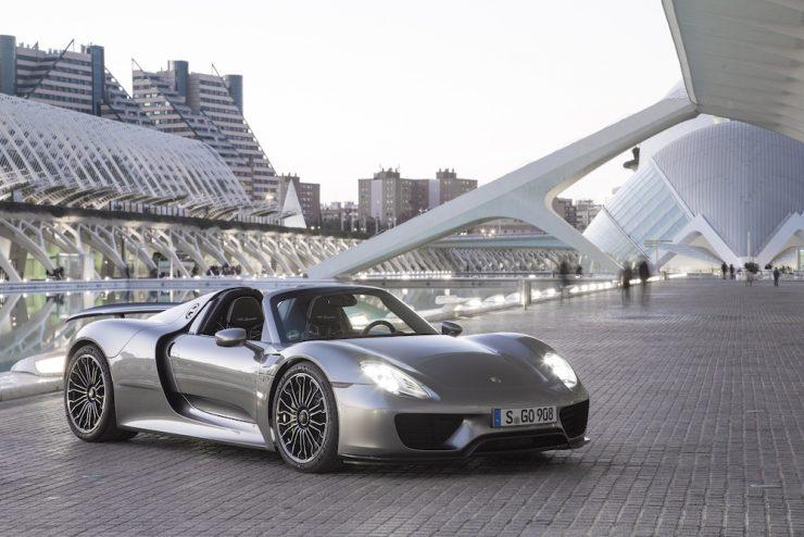 Porsche 918 show car.