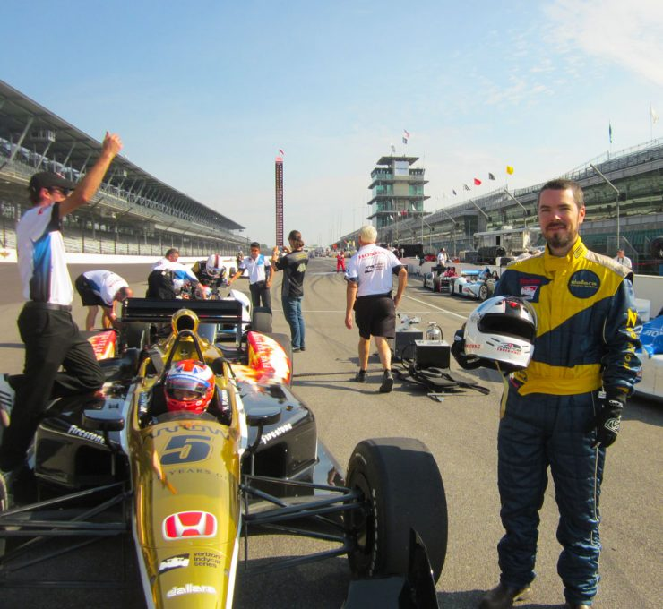 an exhilarating 180 mph ride at the indy racing experience
