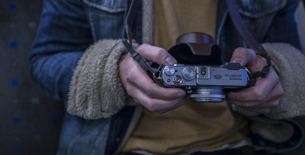 Photographer with a Digital Fujifilm Camera