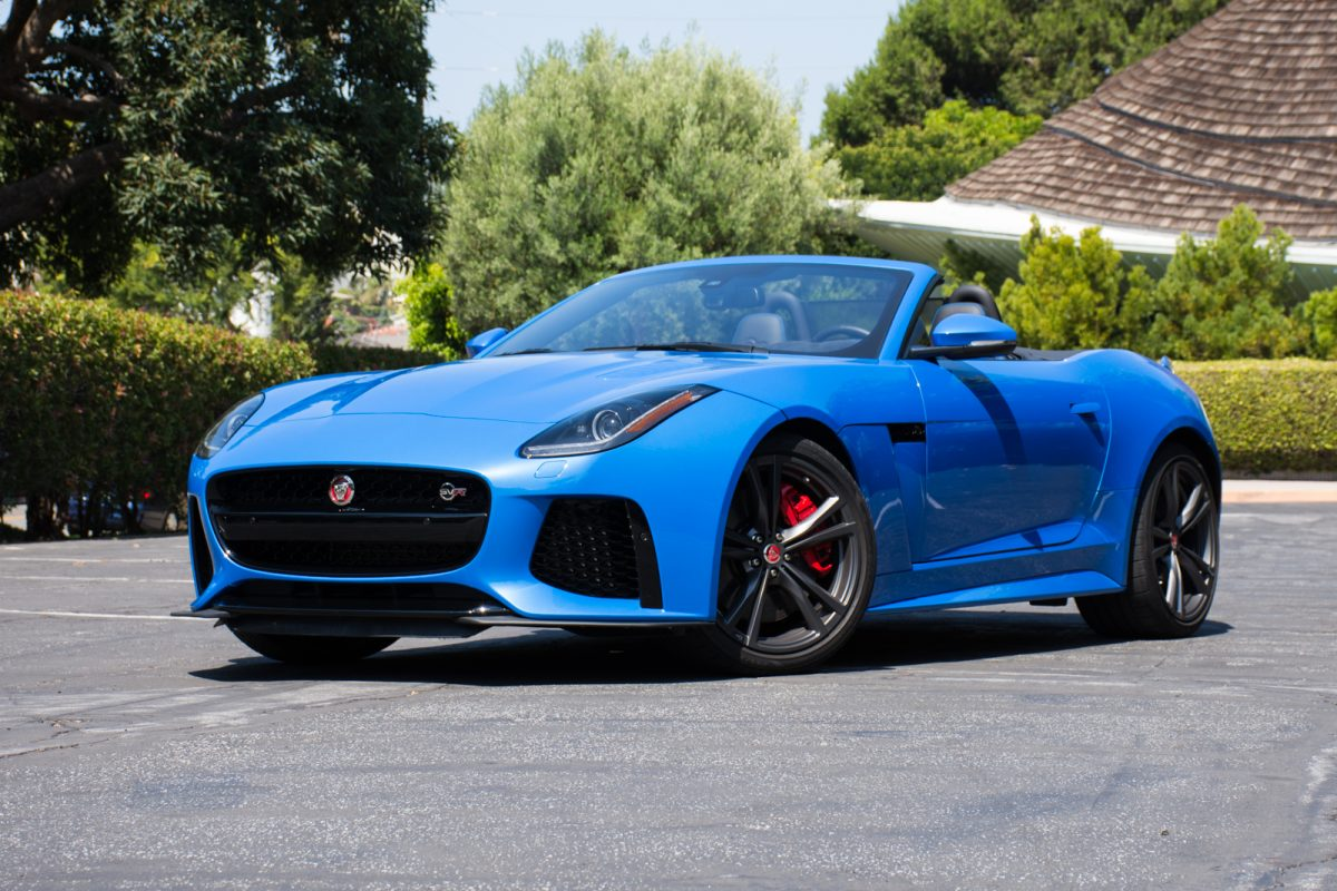 drivin 39 l a with andrew chen 2017 jaguar f type svr. Black Bedroom Furniture Sets. Home Design Ideas