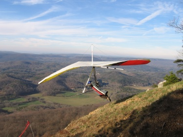 Hang Gliding Lookout Mountain Near Chattanooga, Tennessee