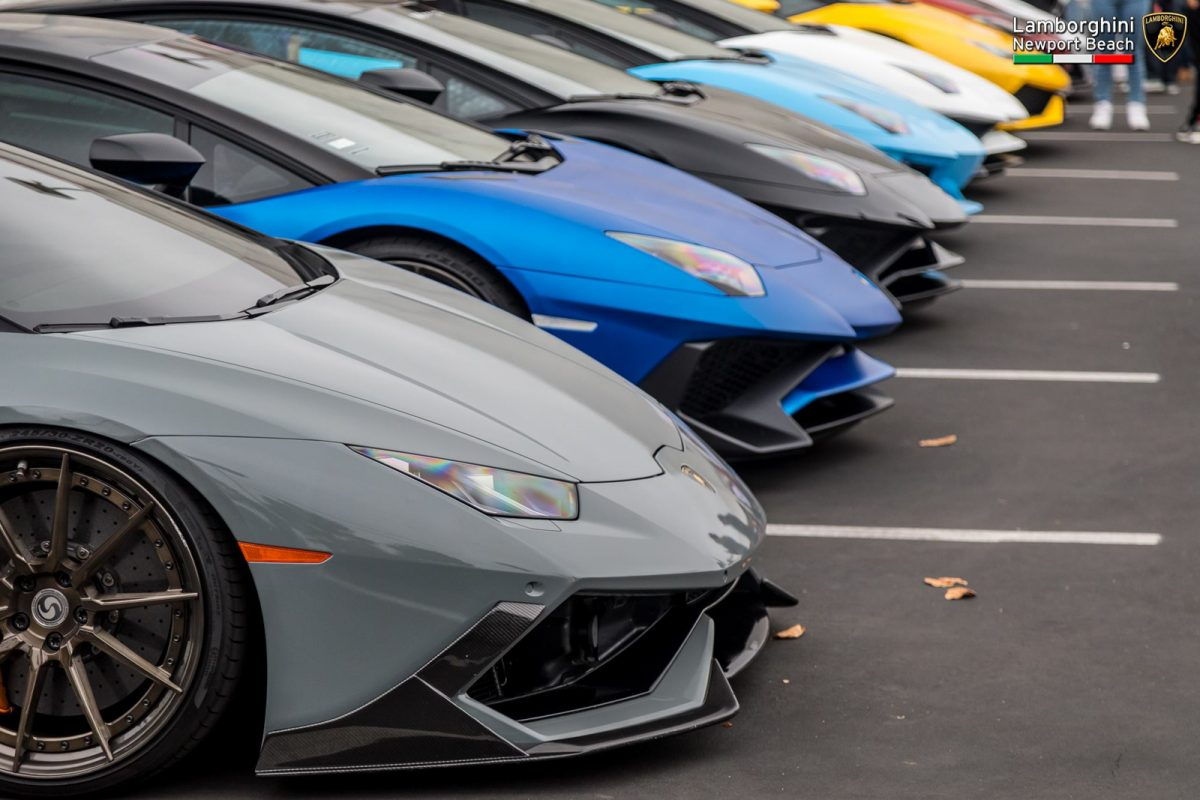 Bulls On Parade Lamborghini Newport Beach Supercar Show - Lamborghini newport beach car show 2018