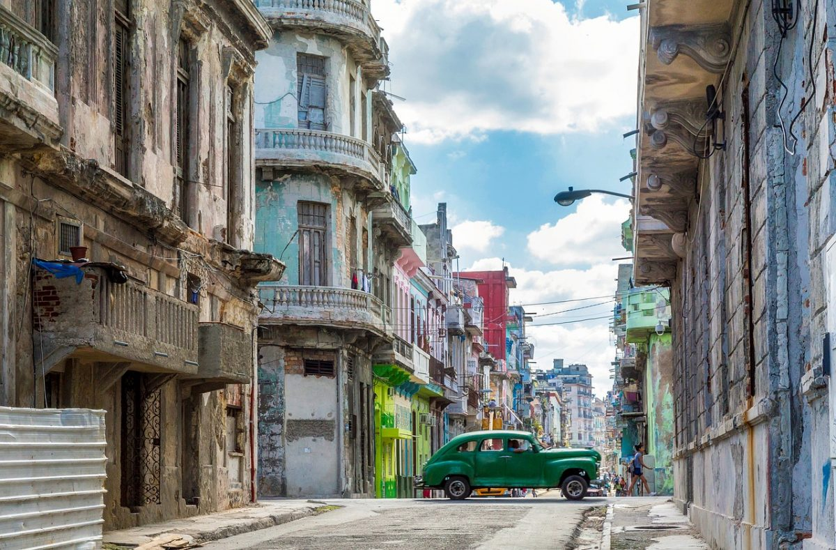 An Old Car on the Streets of Havana, Cuba
