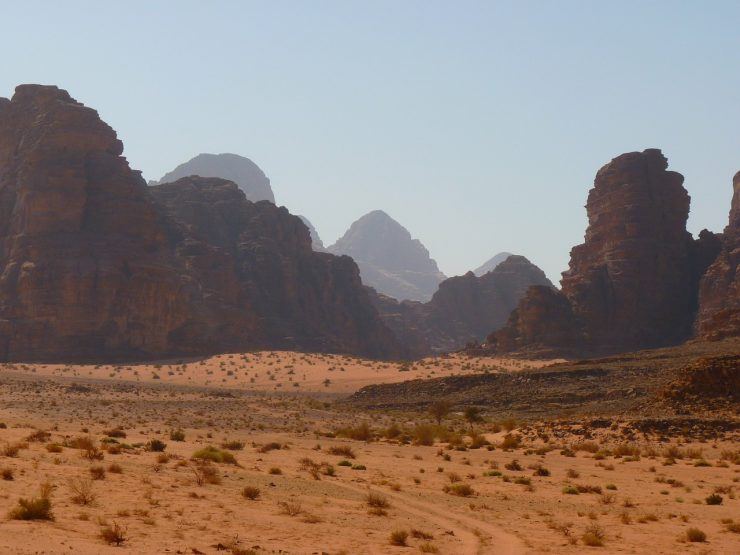 The Valley of Wadi Rum in Jordan