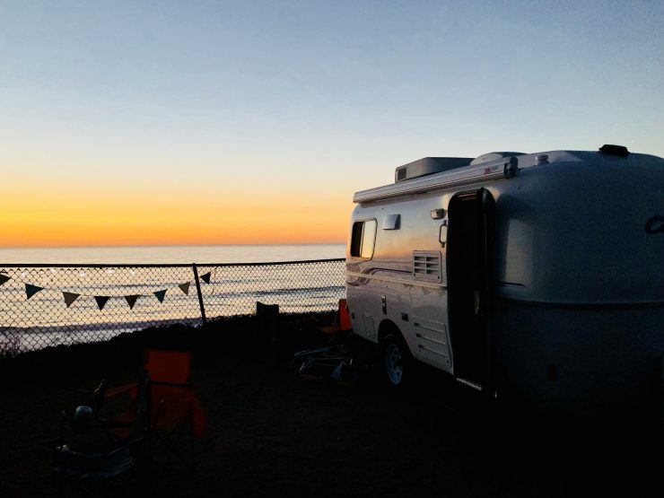 Casita Travel Trailer on the Beach