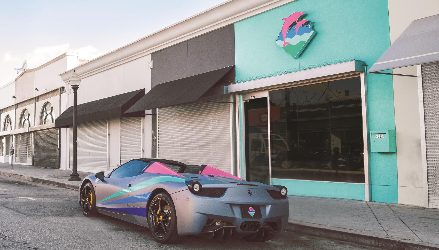 Ferrari, 458, Spider, Pink Dolphin