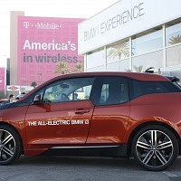 Orange 2014 BMW i3 Profile Side