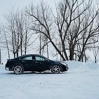 Black 2014 Buick Regal GS AWD Profile