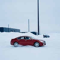 Red 2014 Buick Regal GS AWD Snow