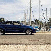 Blue 2015 Audi A3 2.0T Profile