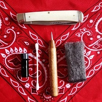Mollyjogger, Scrimshaw, Knife, Contents