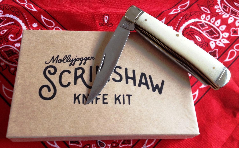 Mollyjogger, Scrimshaw, Knife