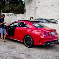 FactoryTwoFour 72 Hours in Los Angeles Red 2014 Mercedes CLA AMG