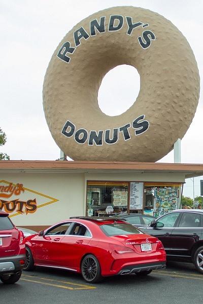 Randys Donuts Los Angeles Mercedes CLA AMG