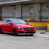 Red 2014 Mercedes CLA AMG