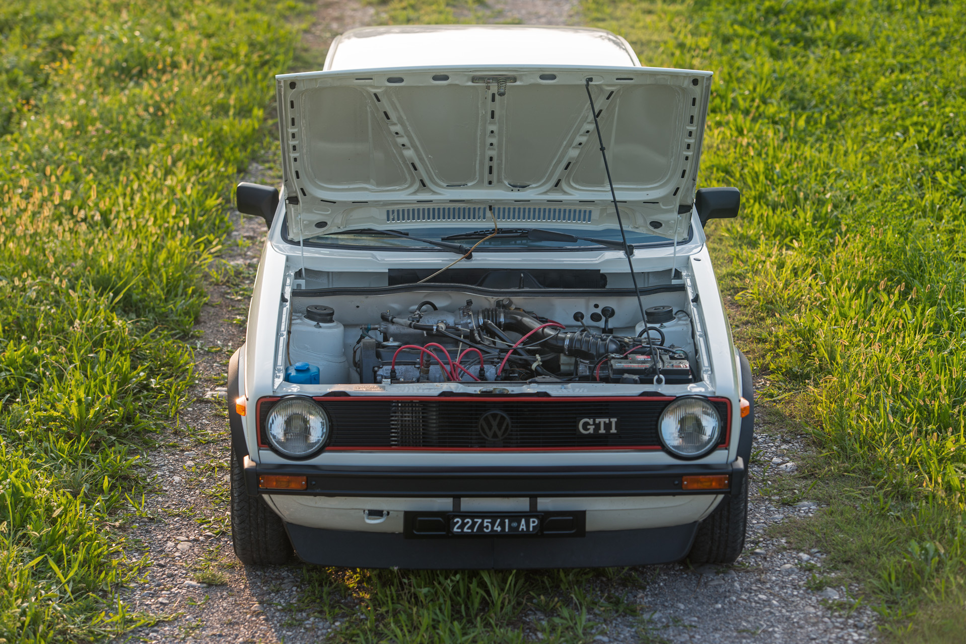 White VW Golf GTI Mk1 Engine Bay