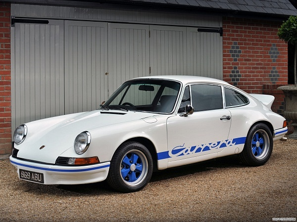 White 1972 Porsche 911 RS 2.7