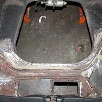 Porsche Backdate Project Front Suspension Pan Rust