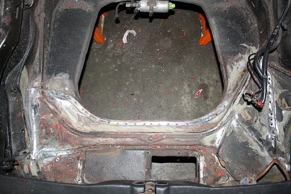 Porsche Backdate Project Front Suspension Pan Rust