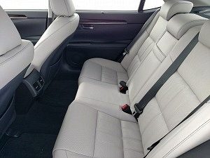 Blue 2016 Lexus ES back seat