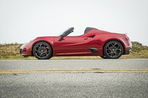 red 2016 alfa romeo 4c spider side profile