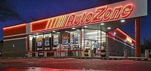 auto parts Autozone store night neon parking lot