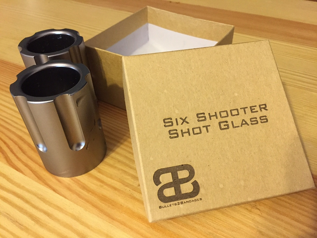 Six Shooter Gun Shot Glass FactoryTwoFour