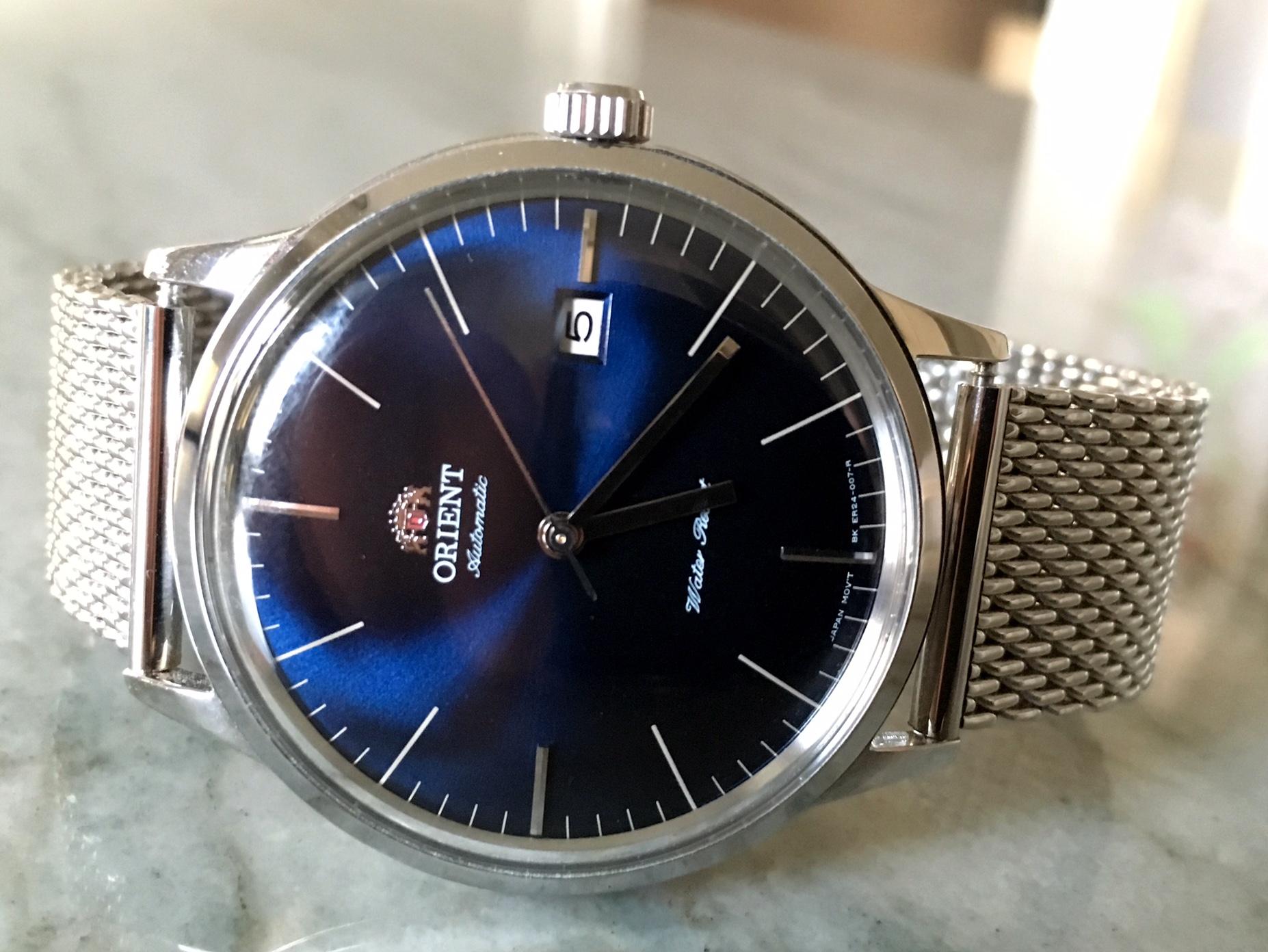 Breguet Orient Watch Blue Mesh FactoryTwoFour