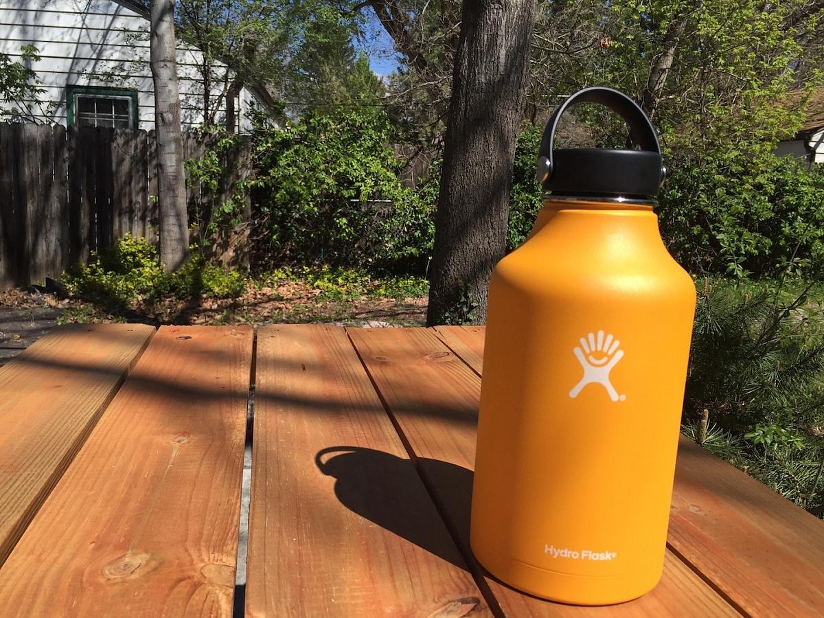 Hydro Flask Growler beer mug chill orange portable