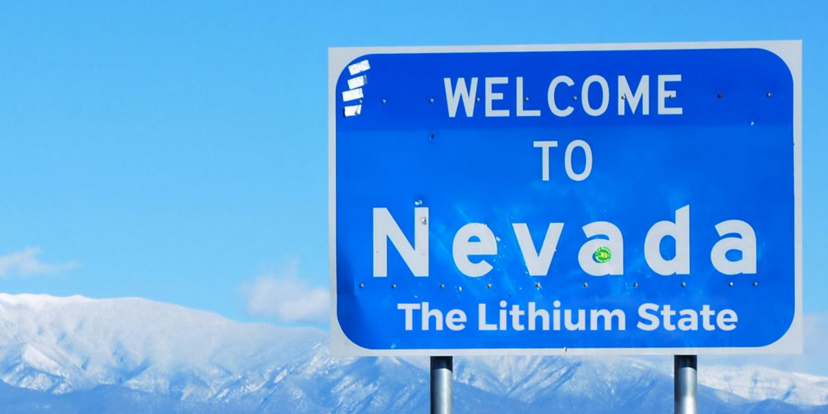 Nevada sign lithium state highway energy tesla gigafactory