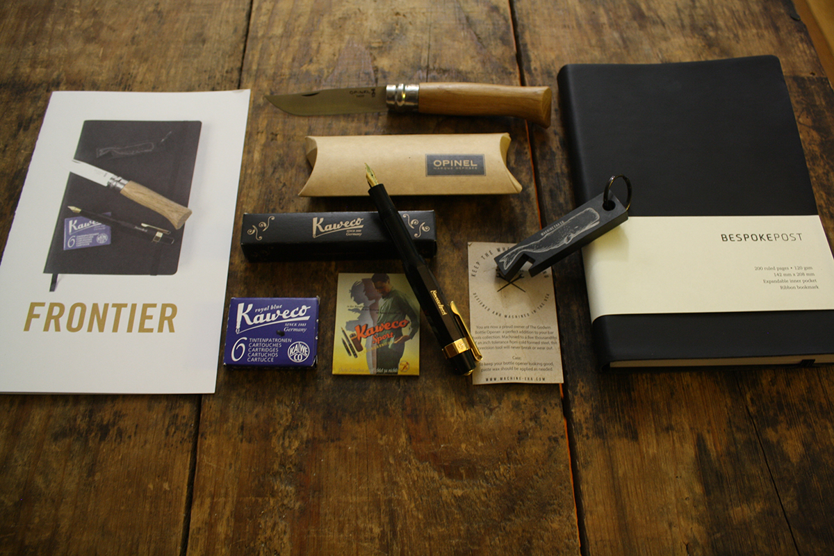 Bespoke Post Frontier Journal Knife Fountain Pen Writing Kit