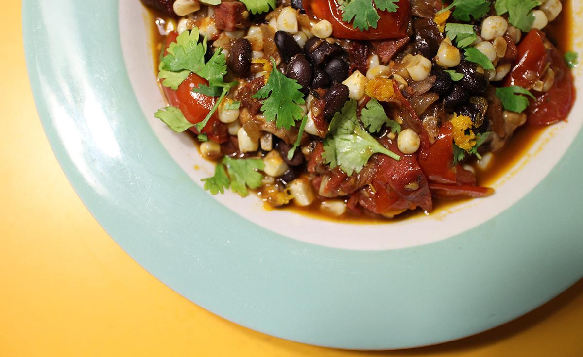 Spicy Black Bean and Corn Chili