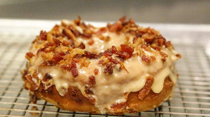 Maple Bacon Donut at The Holy Donut in Portland, Maine
